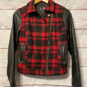 Boy Meets Girl Buffalo Plaid Bomber Jacket